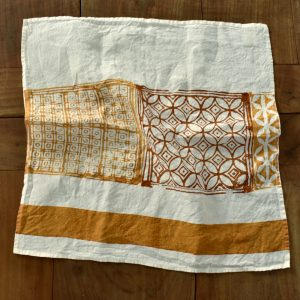 hand printed linen napkin Bertozzi