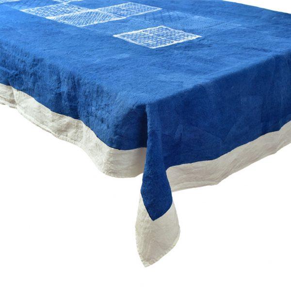 Bertozzi linen blue tablecloth Taormina