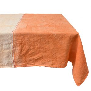 Orange linen tablecloth Bertozzi