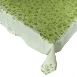 botanical linen tablecloth by Bertozzi