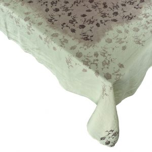 Hand painted luxury linen tablecloth Bertozzi