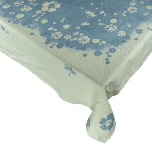 hand painted floral tablecloth Bertozzi