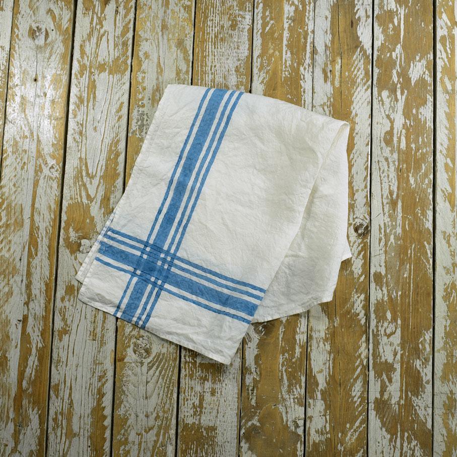 french style linen tea towels gingham blue allora. Black Bedroom Furniture Sets. Home Design Ideas