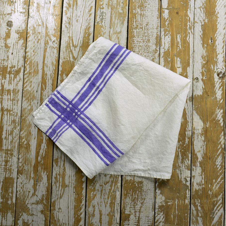 french style linen tea towels gingham violet allora. Black Bedroom Furniture Sets. Home Design Ideas