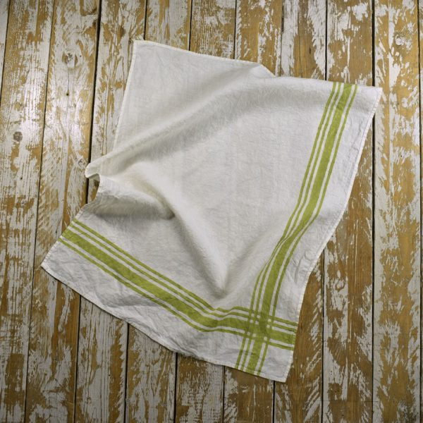 Lime Green gingham tea towel