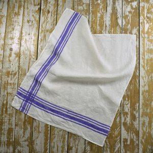 Violet linen tea towel Bertozzi