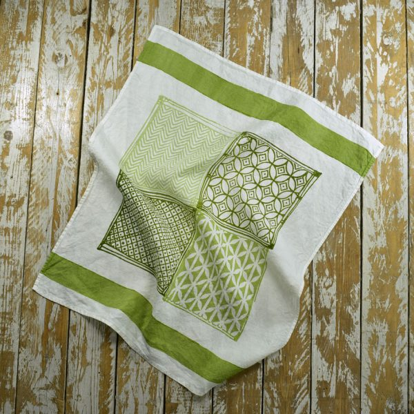 Hand printed linen tea towels Bertozzi