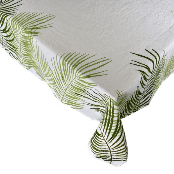 Block printed linen tablecloths tropical Bertozzi