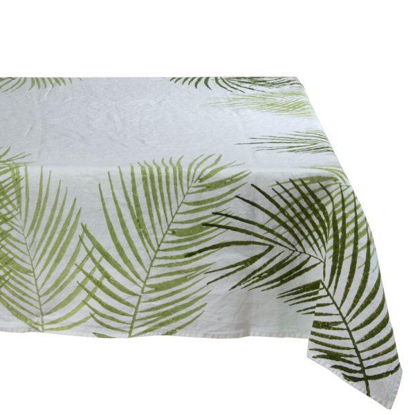 Bertozzi linen tablecloth Green