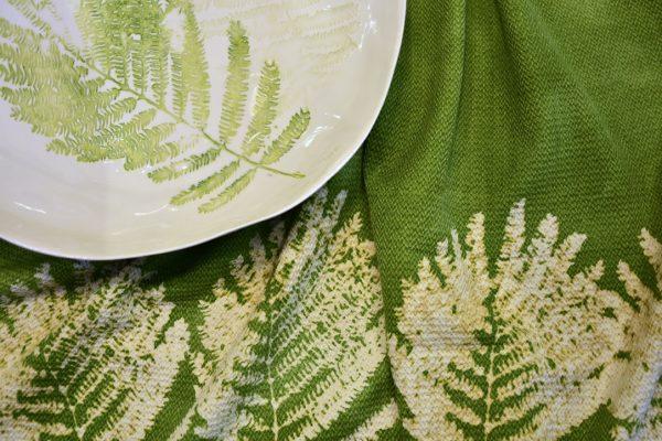 handmade tropical table setting