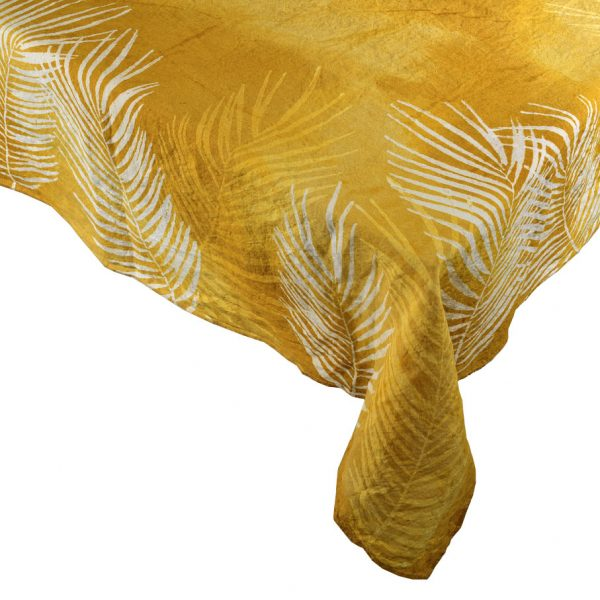 Bertozzi linens ochre tablecloth
