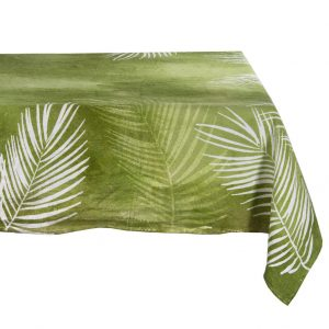 Bertozzi linen tablecloth tropical green
