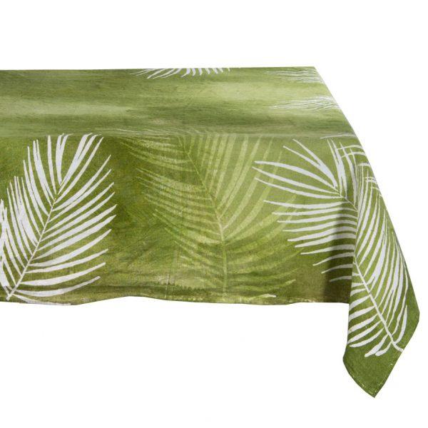 Bertozzi linen tablecloth tropical green