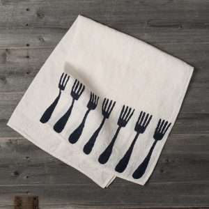 bertozzi linen tea towels black