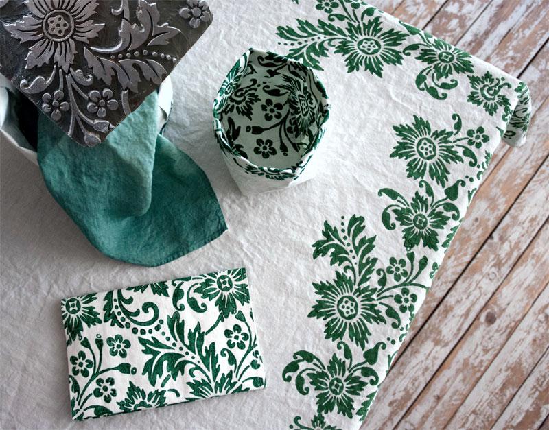 Bertozzi table linen green
