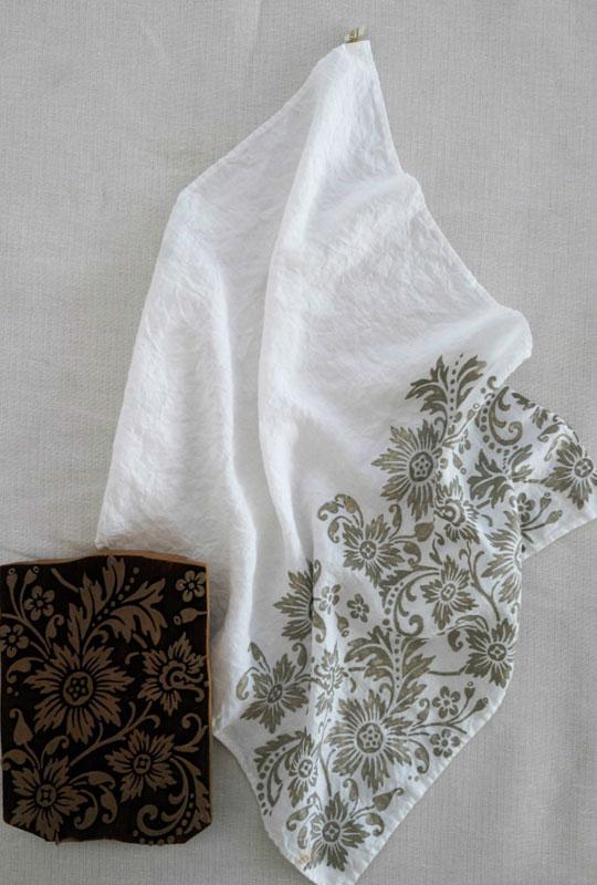 Bertozzi linen tea towel