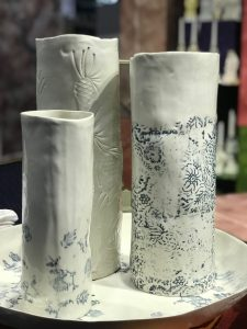 Bertozzi porcelain vases