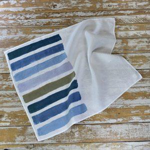 Brushstrokes linen tea towels