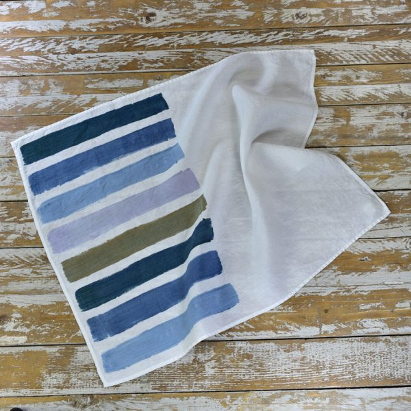 Brushstrokes linen tea towels