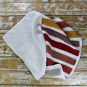 striped linen tea towels