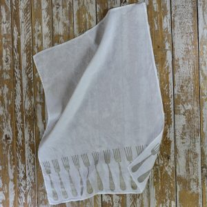 Bertozzi linen tea towels fork