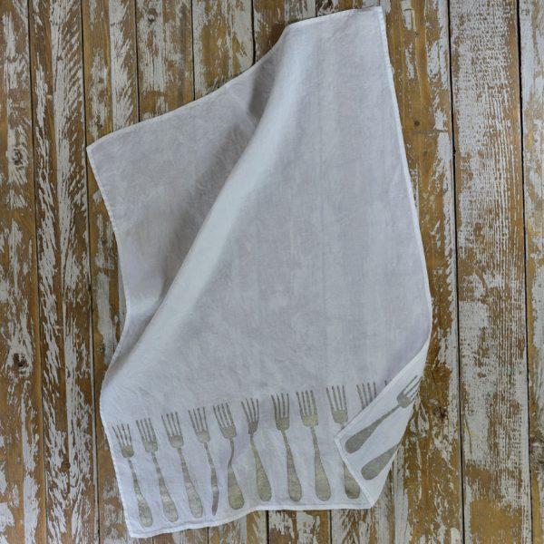 Bertozzi linen tea towels fork