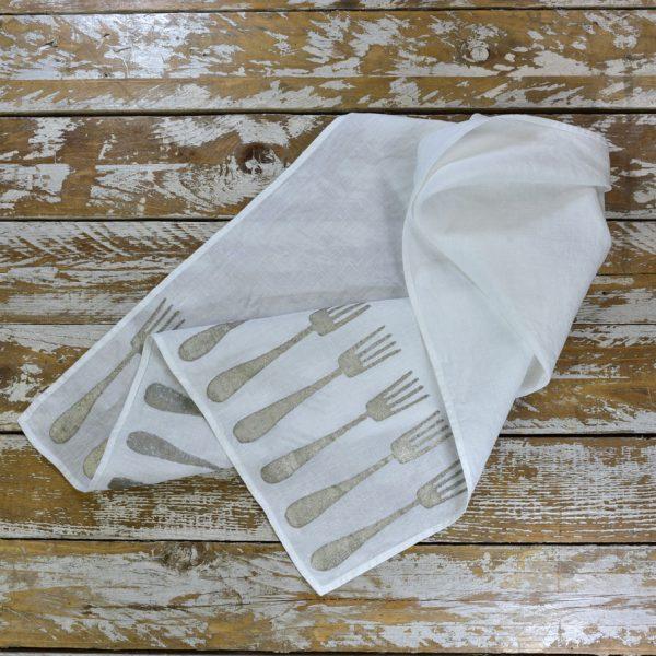 linen tea towel fork Bertozzi