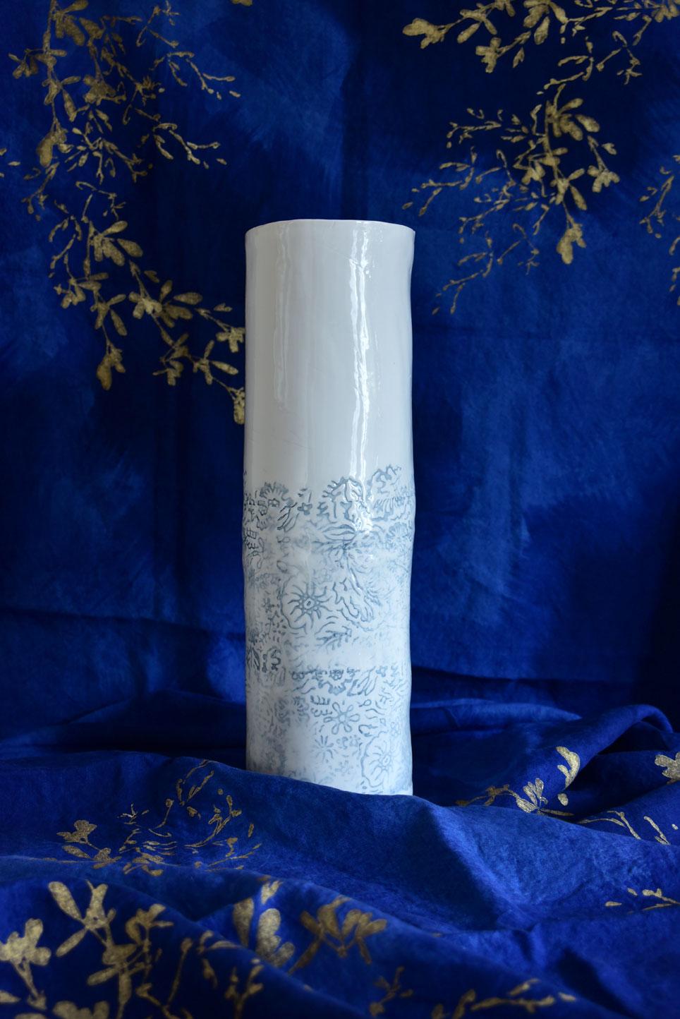 porcelain vase by bertozzi