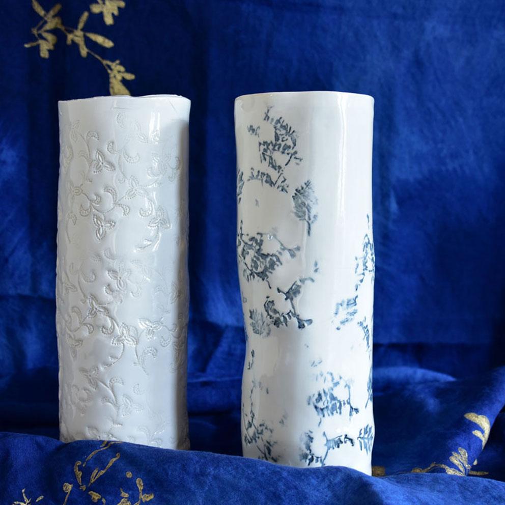 Bertozzi handmade porcelain vases