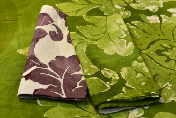 Bertozzi linen napkins green
