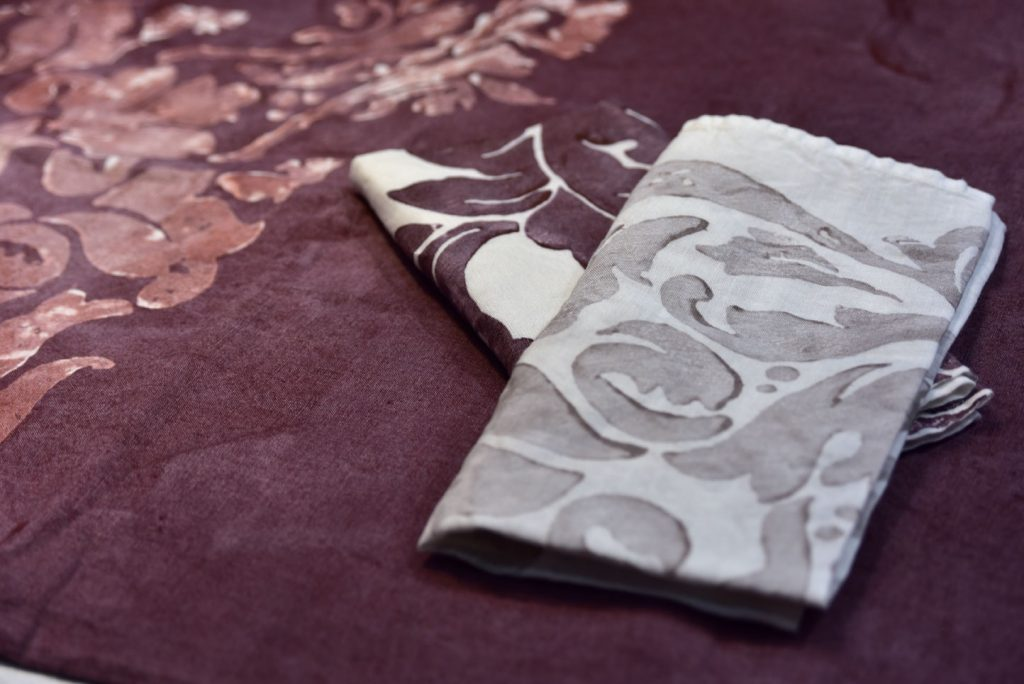 Plum linen napkins