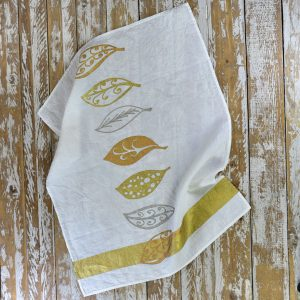 Bertozzi linen tea towels gold