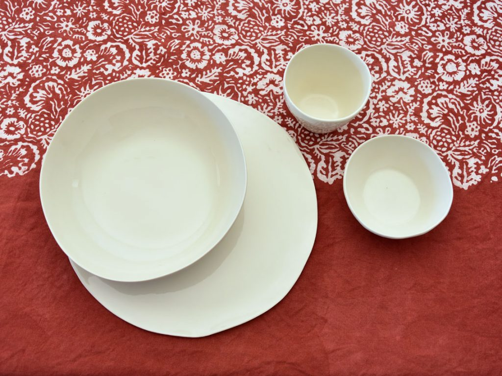 Bertozzi red table setting