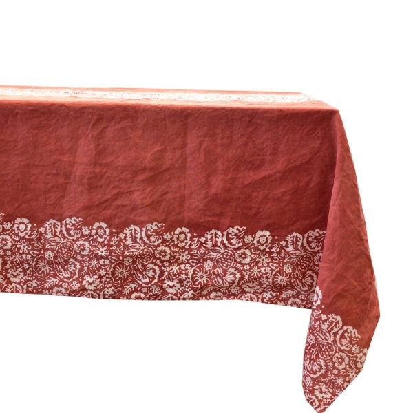 Bertozzi red tablecloth