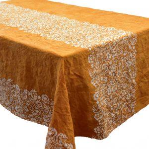 Bertozzi ochre linen tablecloth