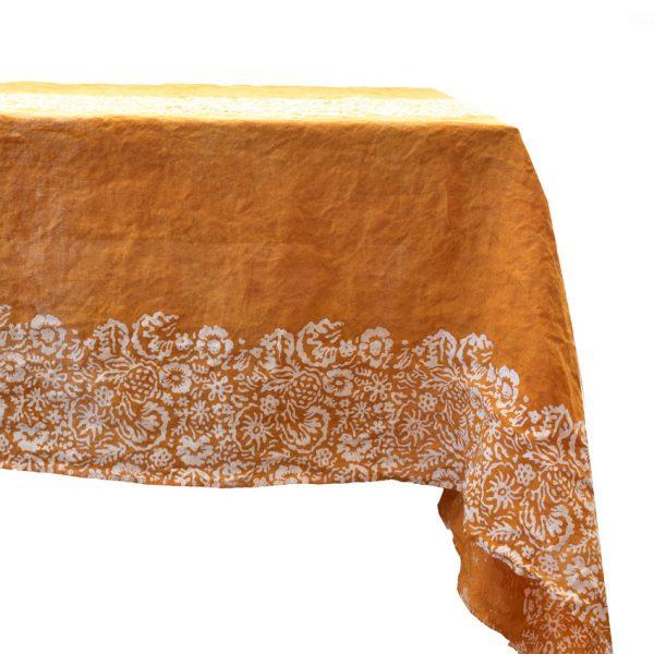 Bertozzi ochre linen cloth