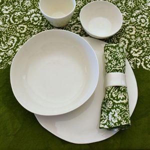 Bertozzi green linen table set