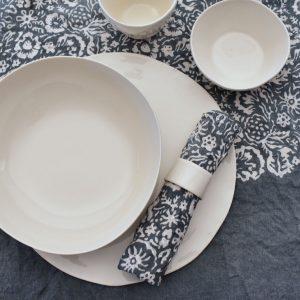 Bertozzi grey linen table setting