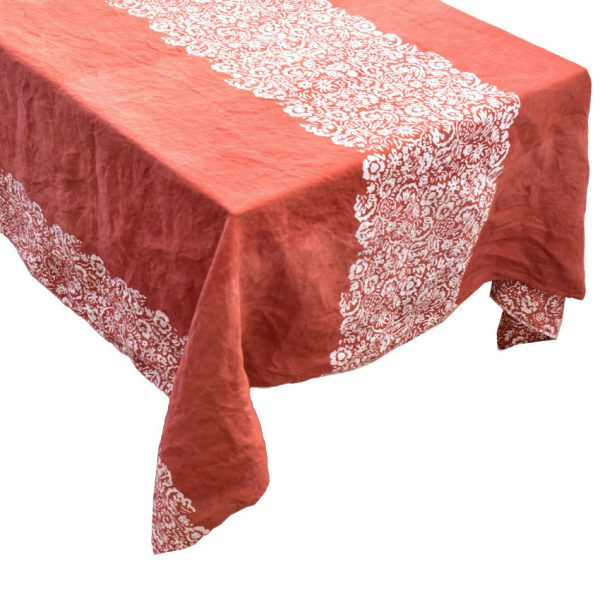 Bertozzi linen tablecloth red