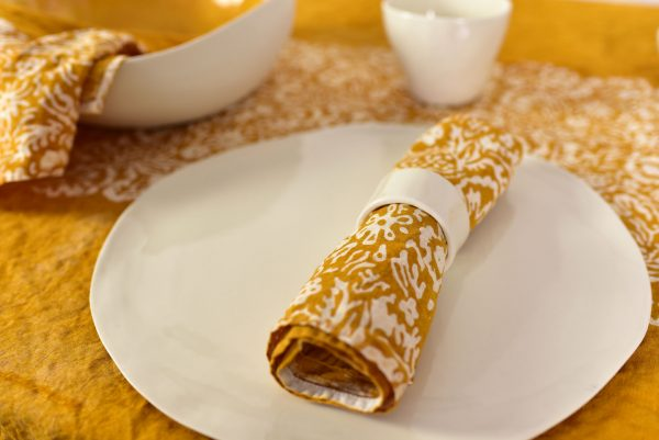 Bertozzi mustard napkin