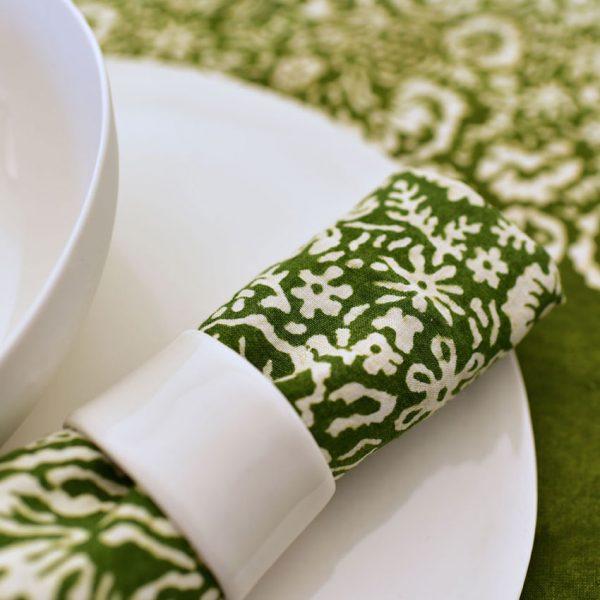 Bertozzi green linen napkin