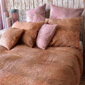 Bertozzi linen bedding set mattone