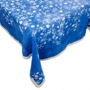 Bertozzi blu linen tablecloths