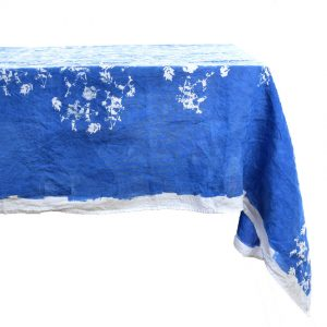 Bertozzi blue linen tablecloth