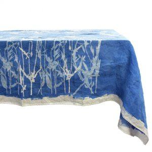 Bertozzi blue linen tablecloth Bertozzi