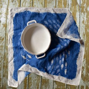 Bertozzi fish linen tea towel