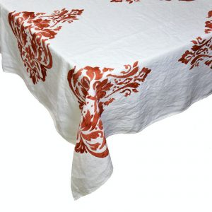 Bertozzi block printed tablecloth