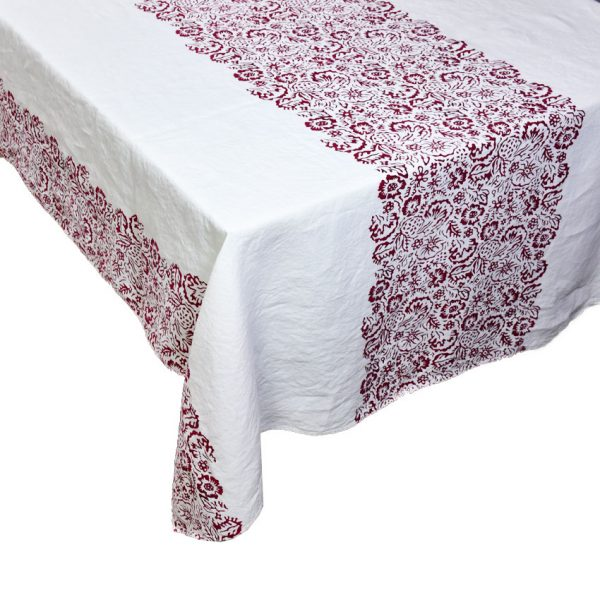 italian tablecloth bertozzi red
