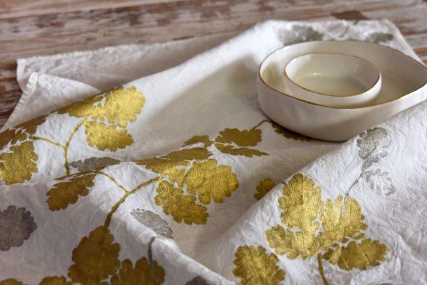 Tea towels oak leaves
