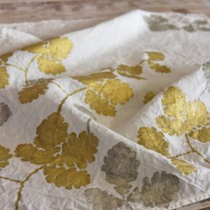 Bertozzi linen tea towel oak leaves